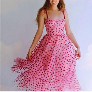lirika matoshi dresses  pink hearty corset midi dress